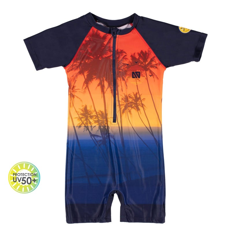 Palm Tree UV Swimsuit 2-4y