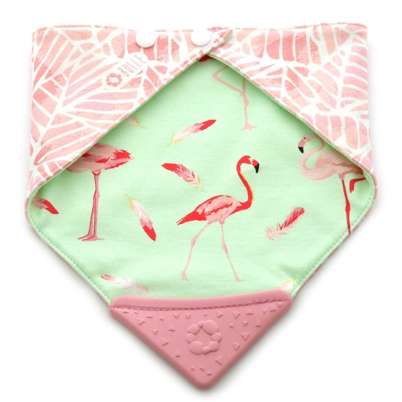Teething Bib - Flamingo