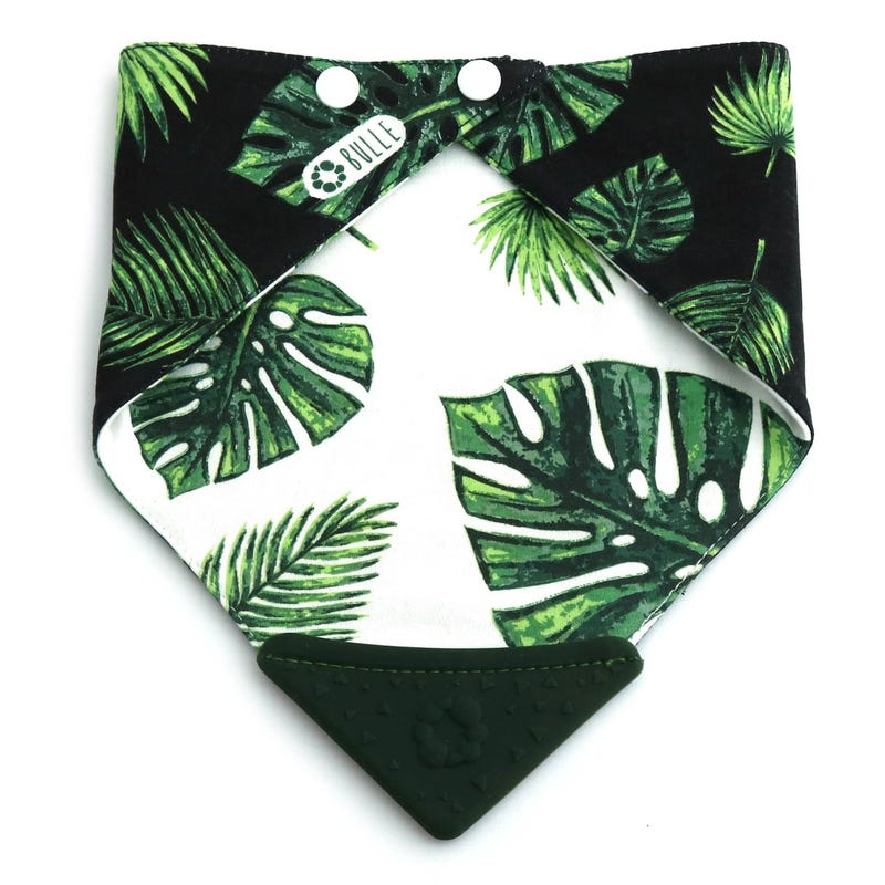 Teething Bib - Tropical Leaf