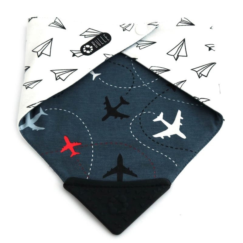 Teething Bib - Planes