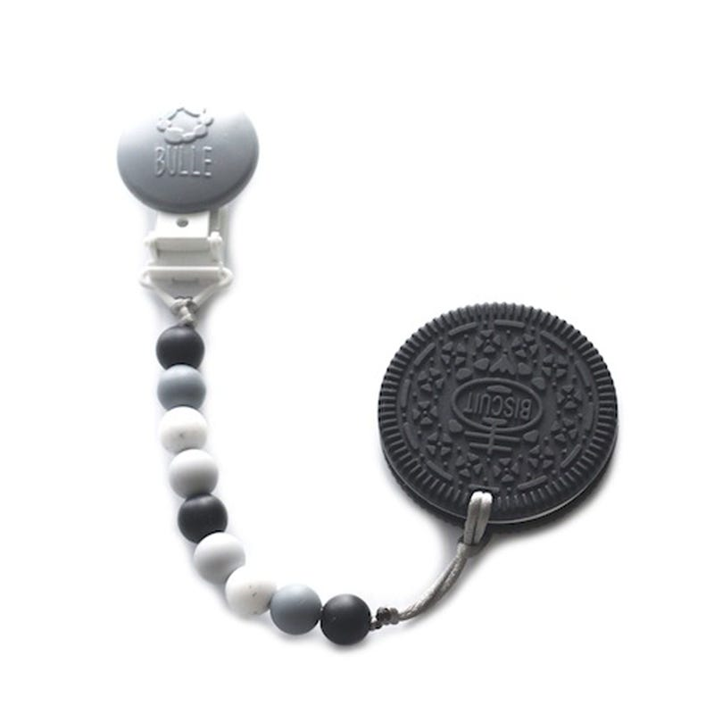 Duo Teething Toy& Pacifier - Black Cookie