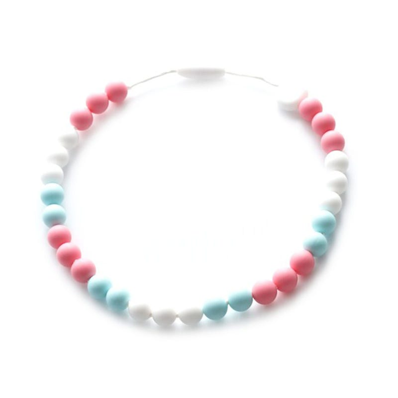 Kid Necklace - White/Pink/Blue