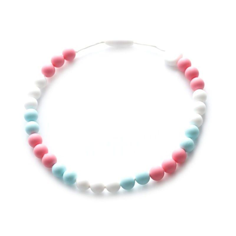 Collier Enfant - Blanc/Rose/Bleu