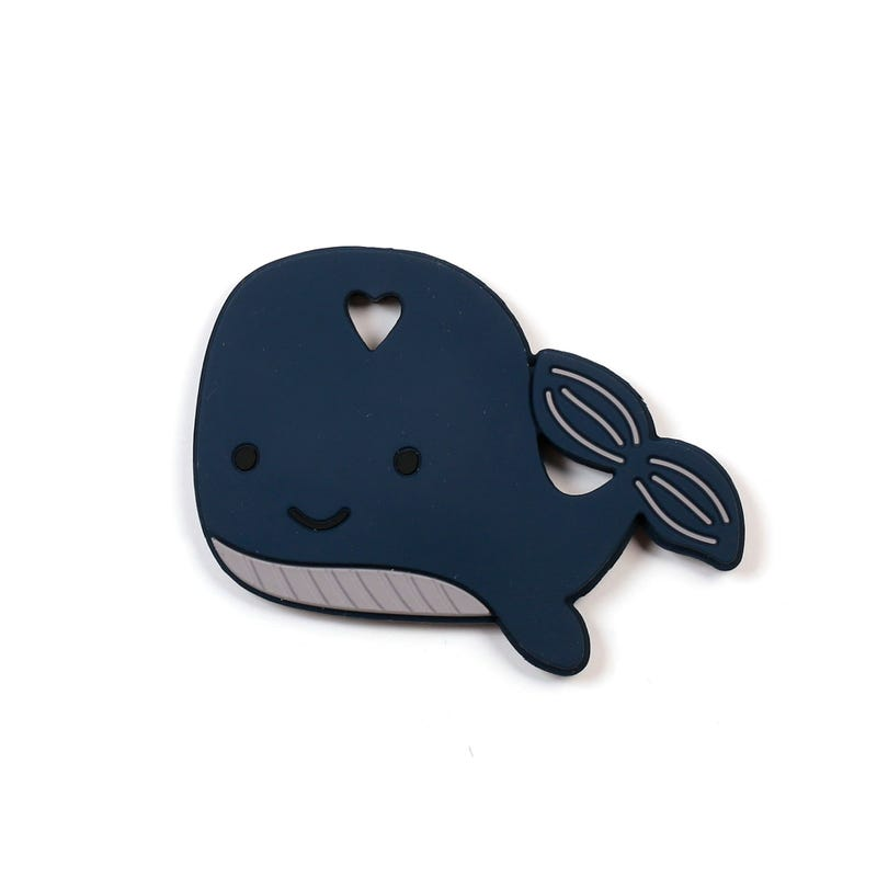 Teething Toy - Navy Whale
