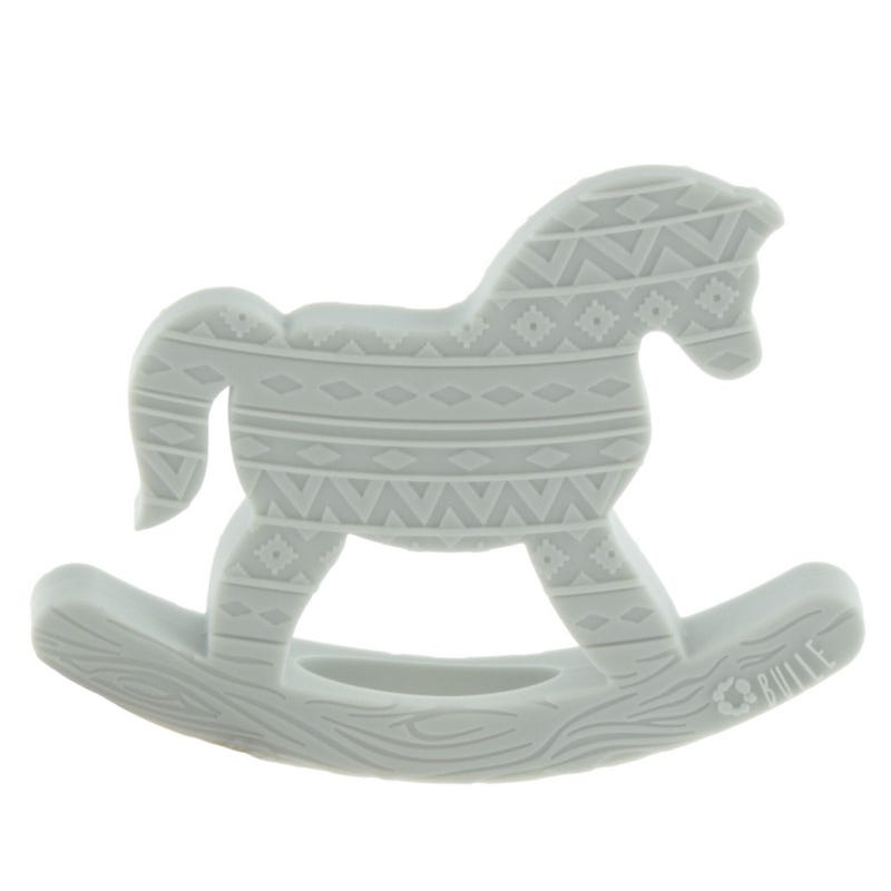 Horse Toy Blanket - Gray