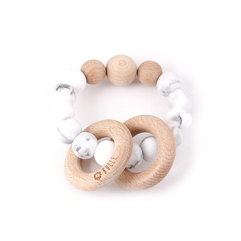 Clic-Clac Wood Rattle - Marble