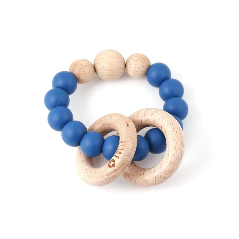 Clic-Clac Wood Rattle -Navy