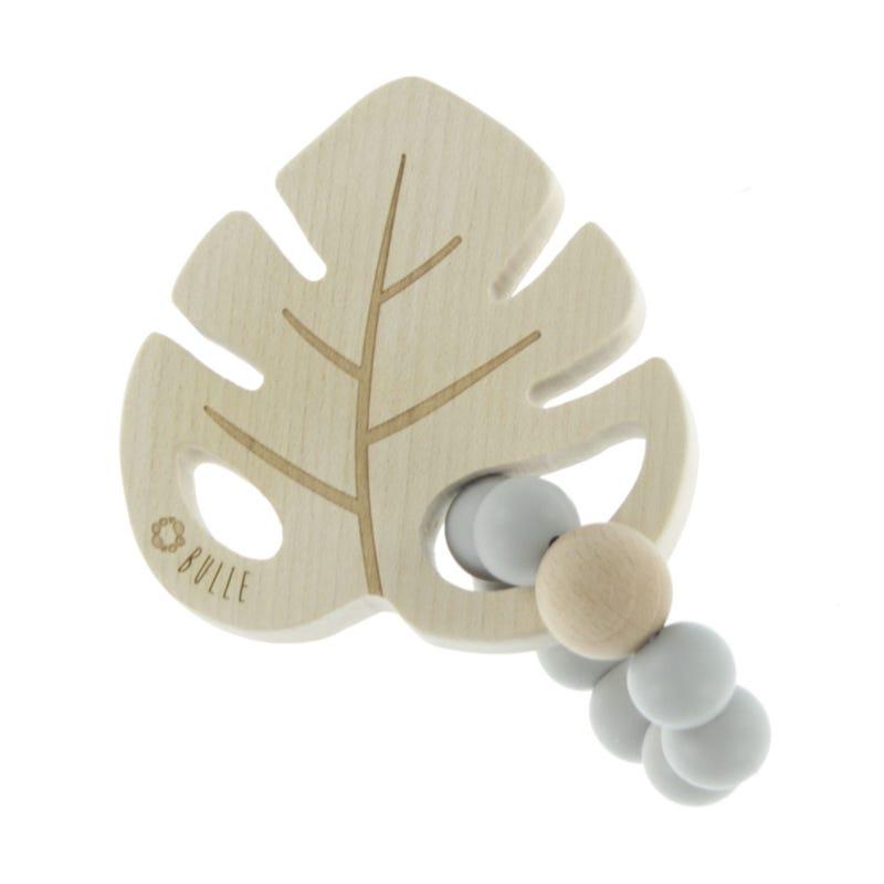 Leaf Wood Rattle -Gray