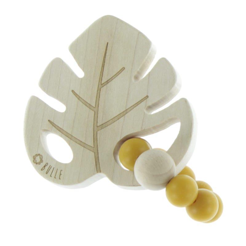 Leaf Wood Rattle -Dijon