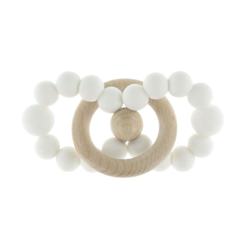 Infinity Wood Rattle - White