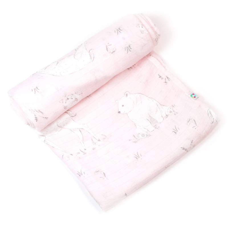 Couverture Mousseline Bambou - Rose