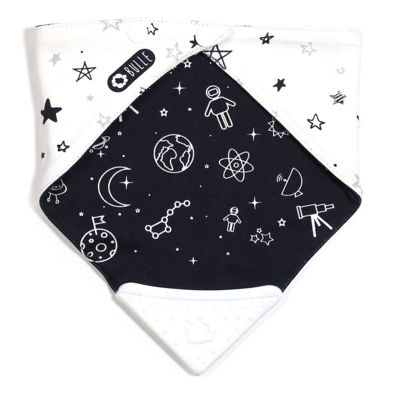 Teething Bib - Space