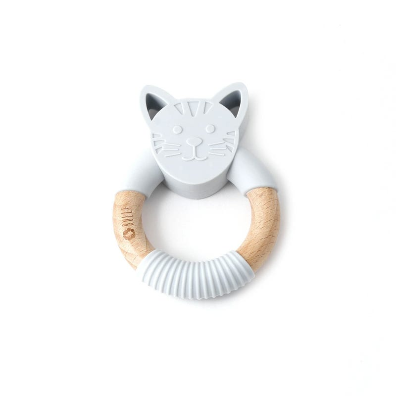 Animal Rattle - Gray Cat