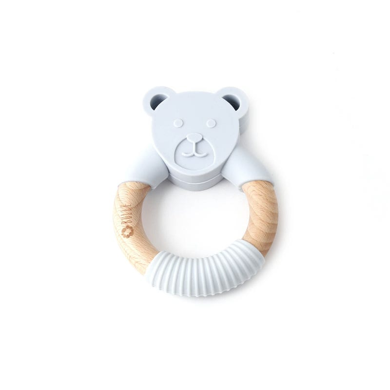 Animal Rattle - Gray Bear