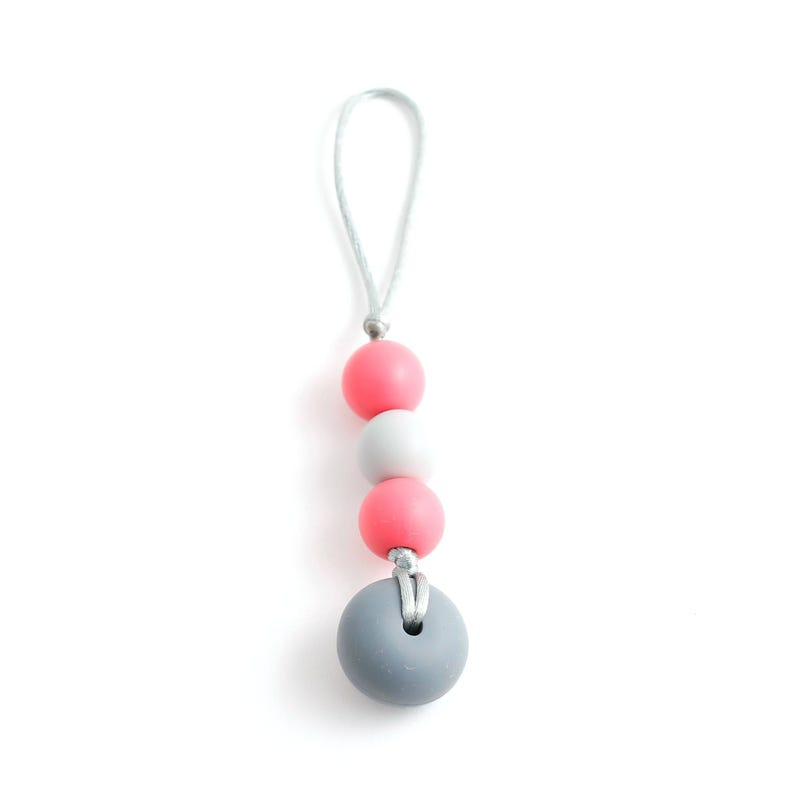 Zip-Bulle To Chew - Coral/Gray