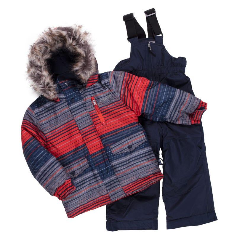 Horizon Striped Snowsuit 2-8y