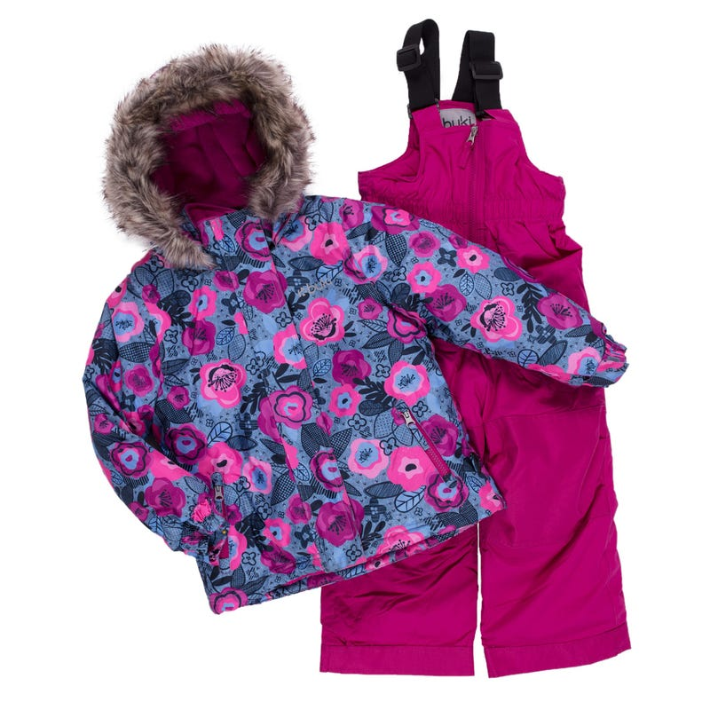 Flowers Printed Snowsuit 2-8y