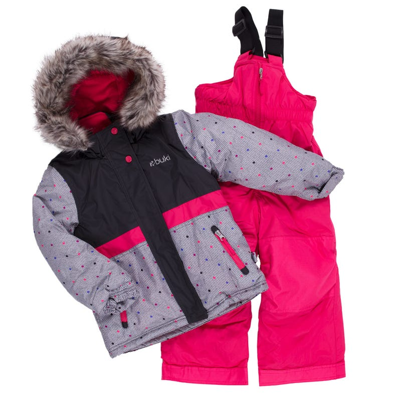 Dots Block Snowsuit 2-8