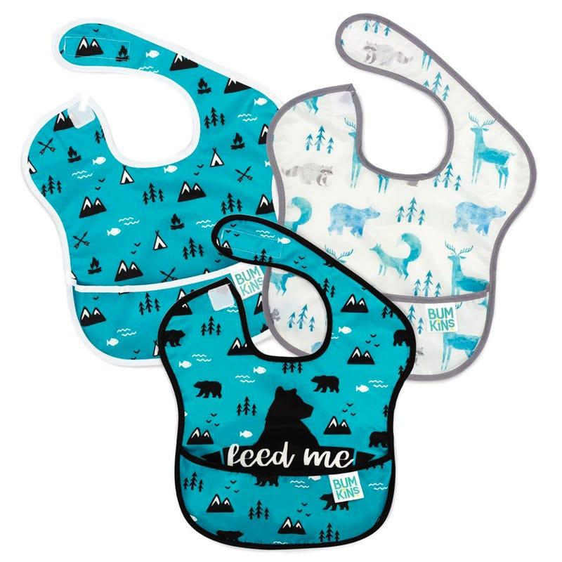 Waterproof SuperBib 3-Pack 6-24m - Blue