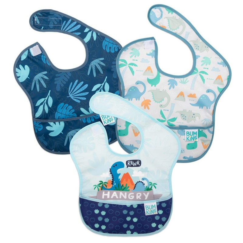 Waterproof SuperBib 3-Pack 6-24m - Dino