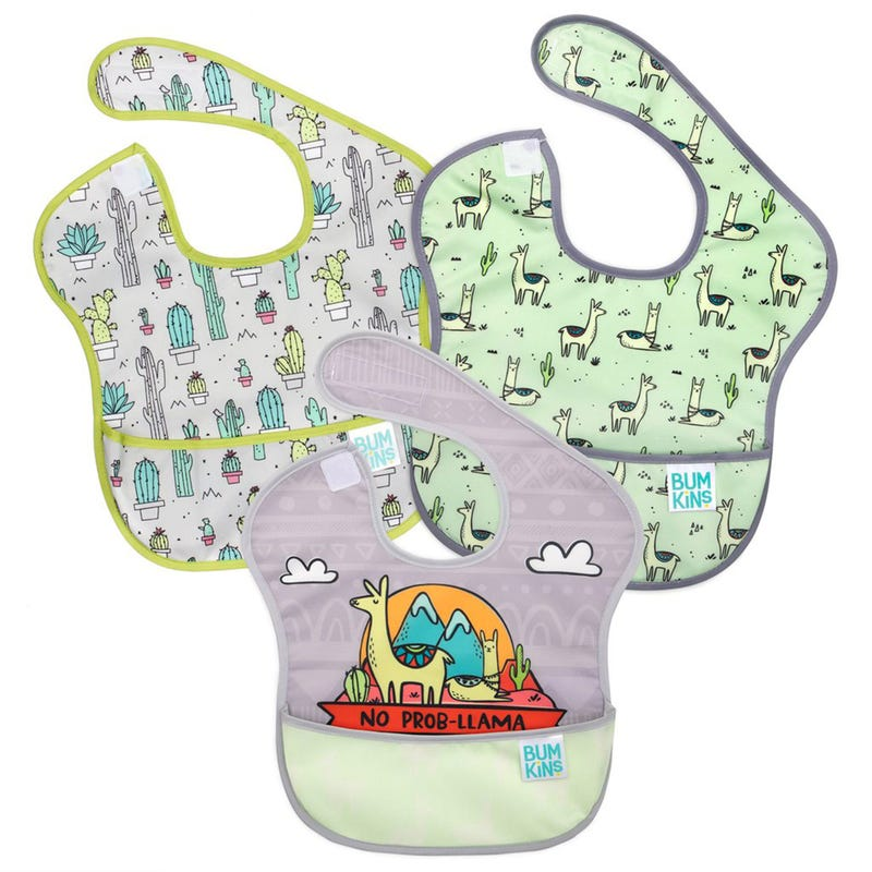 Waterproof SuperBib 3-Pack 6-24m - Llama