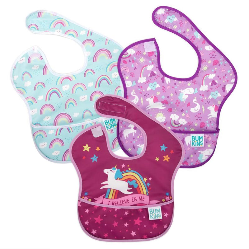 Waterproof SuperBib 3-Pack 6-24m - Unicorn
