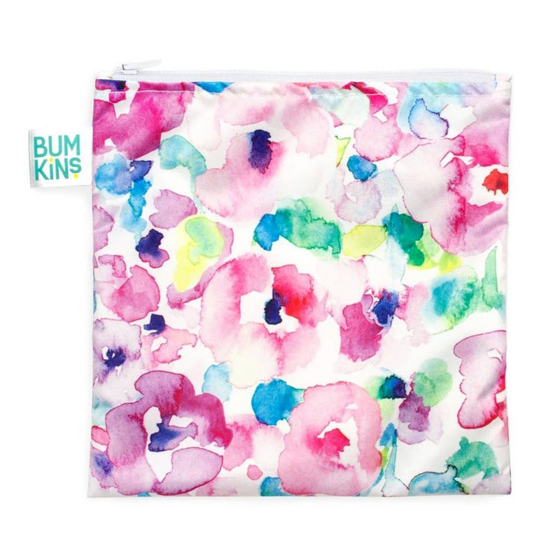 Large Reusable Snack Bag - Watercolor