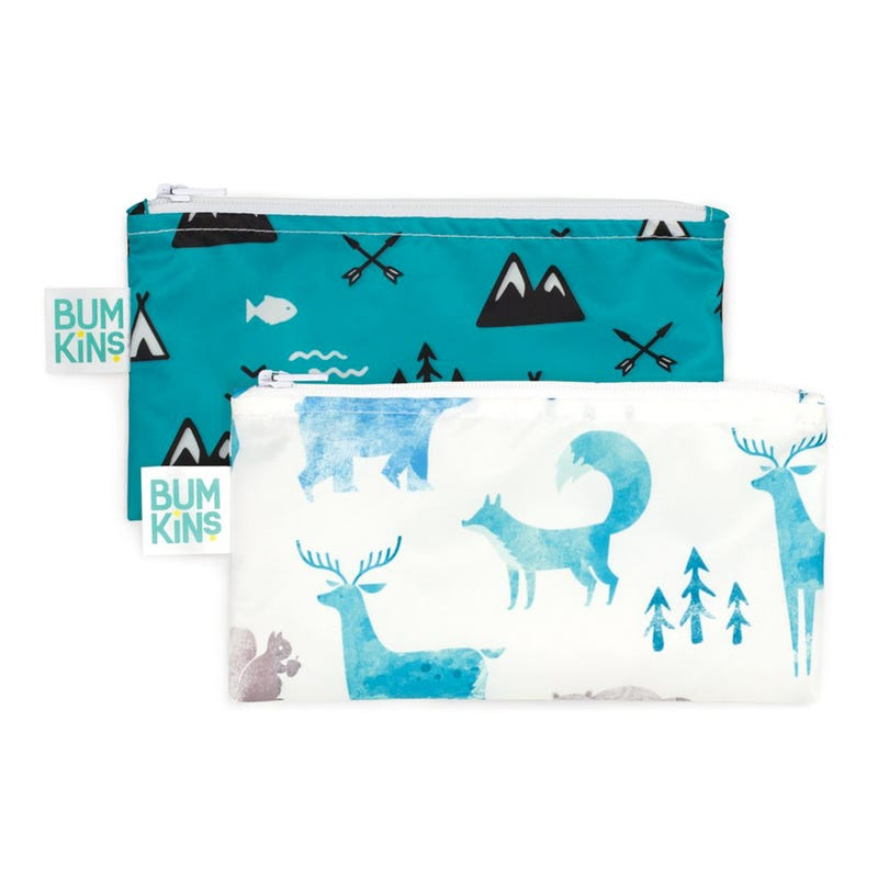 Small Reusable Snack Bag 2 Pack - Outdoors / Wildlife