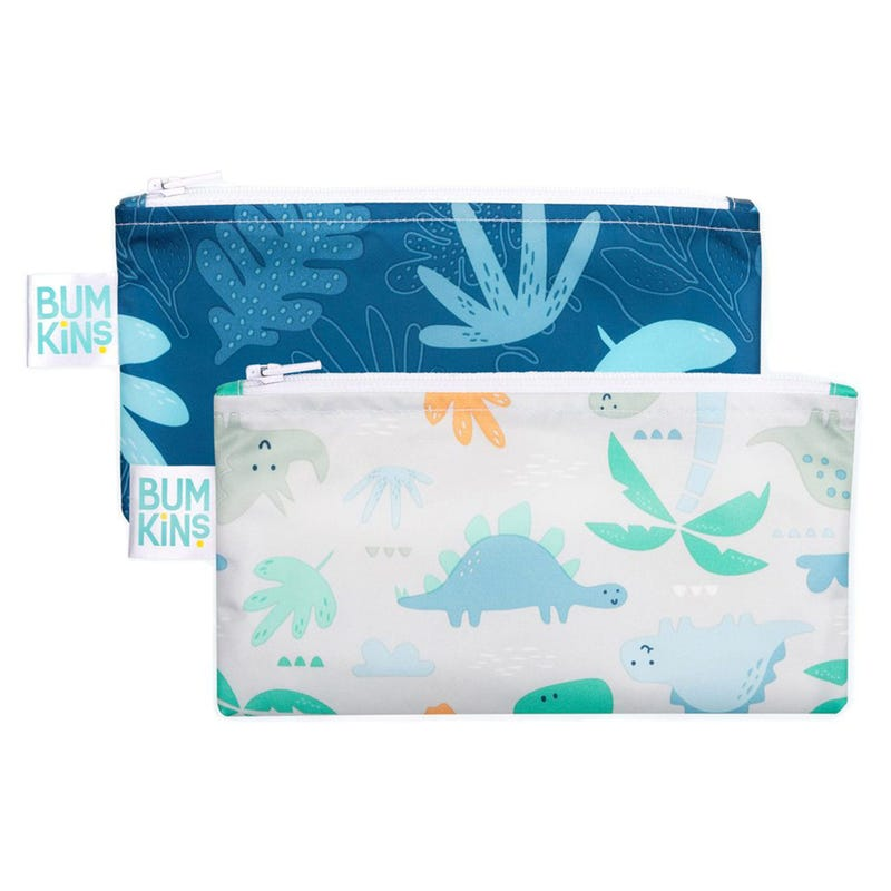 Reusable Snack Bag 2-Pack Small - Dino