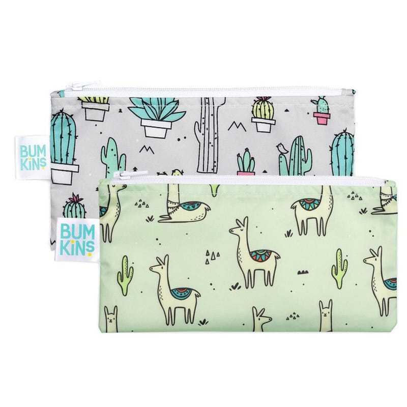 Reusable Snack Bag 2-Pack Small - Llama