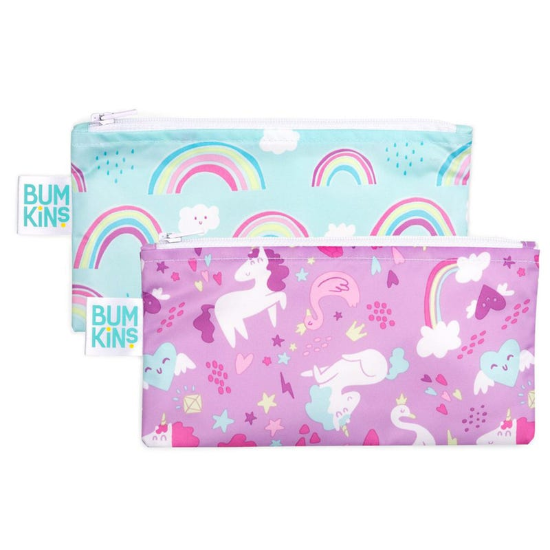 Reusable Snack Bag 2-Pack Small - Unicorn