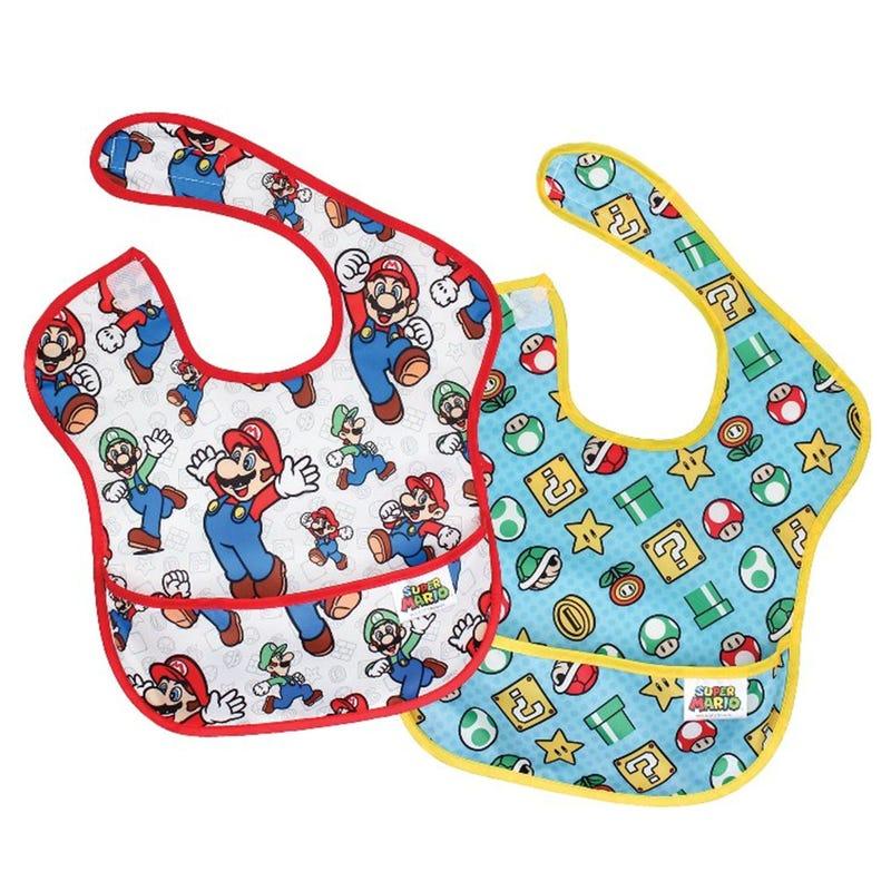 SuperBib 2 Pack 6-24month - Super Mario