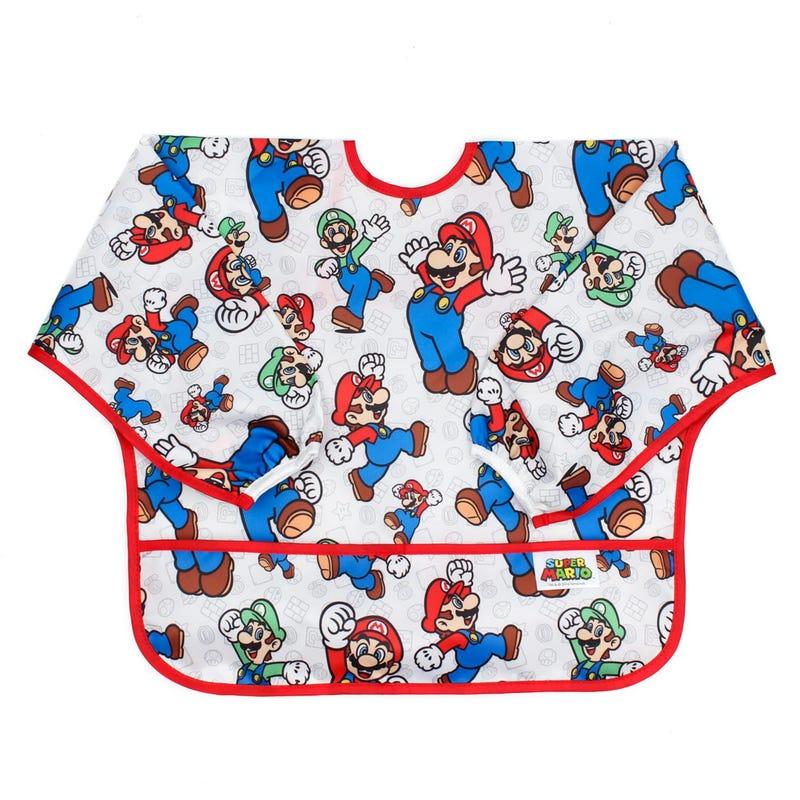 Sleeved Bib 6-24months - Mario Classic