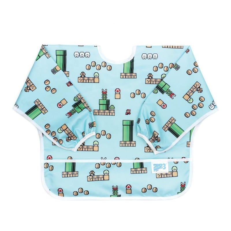 Sleeved Bib 6-24months - Super Mario 8-bit Game