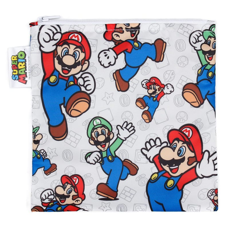 Large Reusable Snack Bag - Super Mario & Luigi