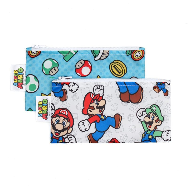 Small Reusable Snack Bag 2 Pack - Super Mario
