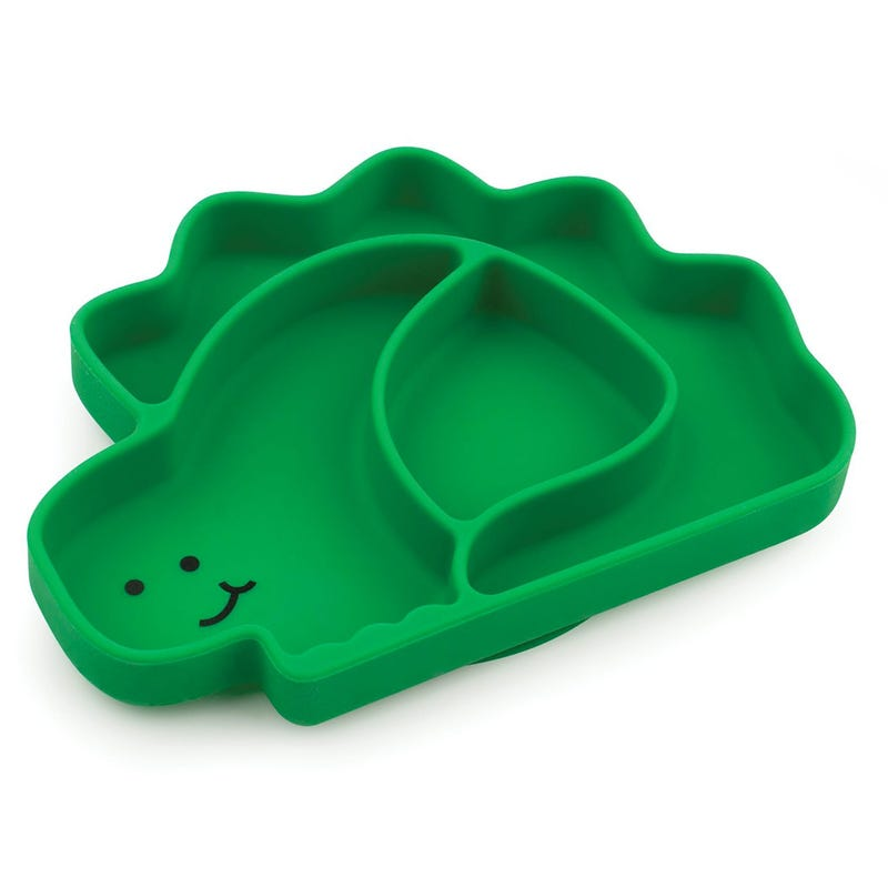 Suction Silicone Grip Dish - Dino