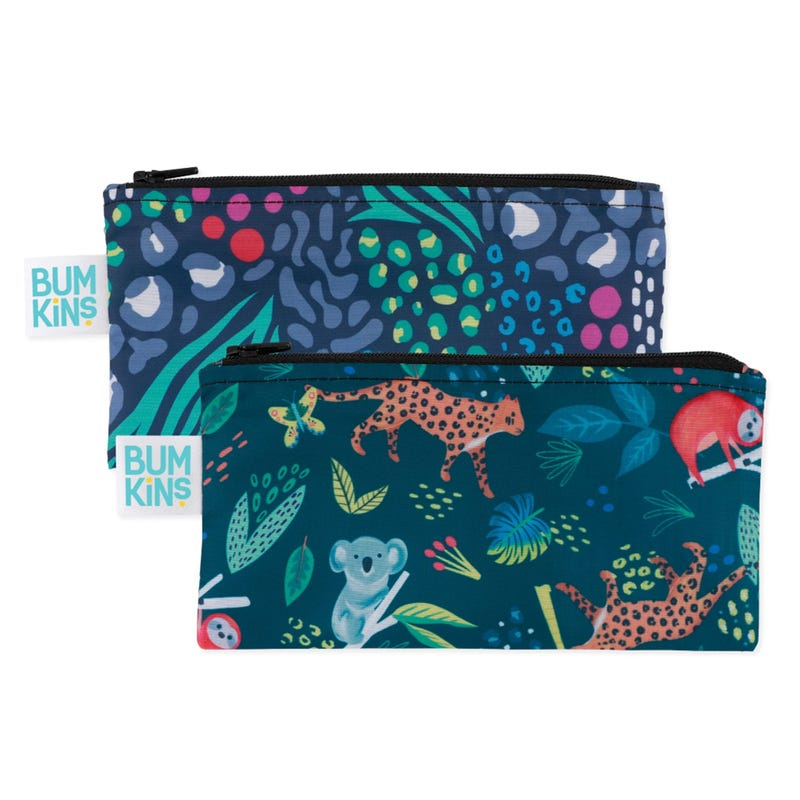 Small Reusable Snack Bag 2 Pack - Jungle