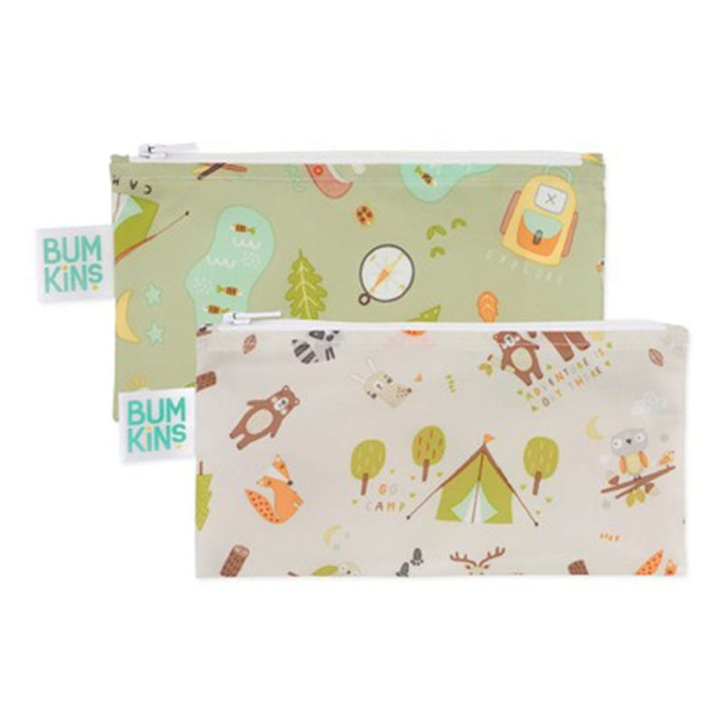 Small Reusable Snack Bag 2 Pack - Camper