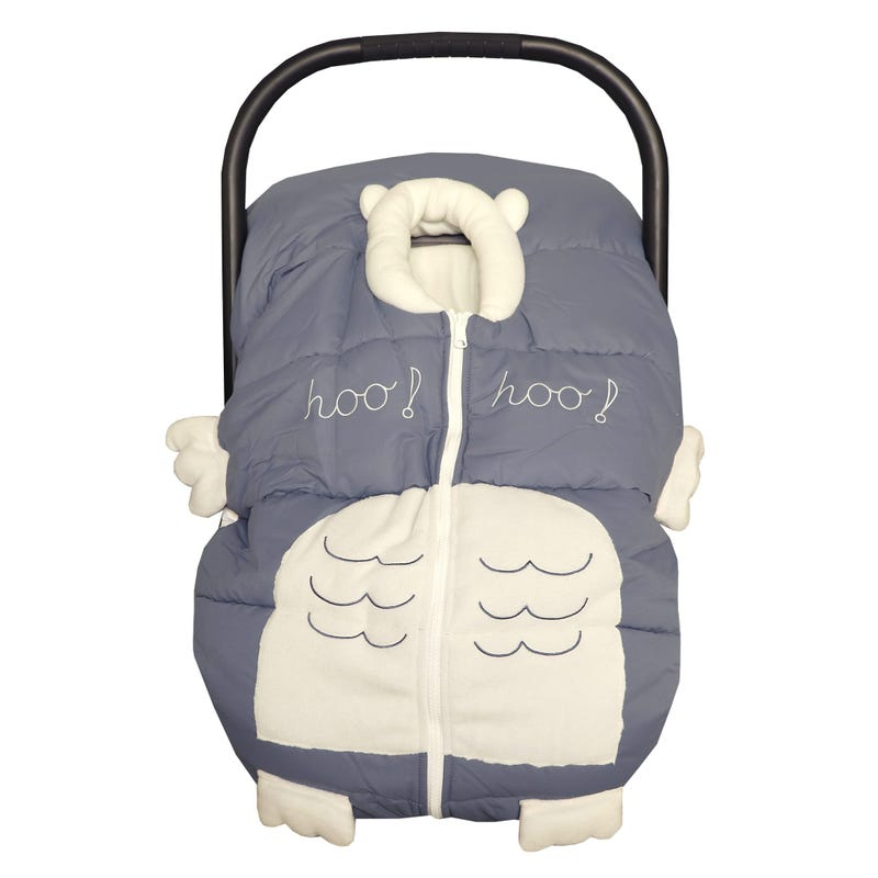 Winter Car Seat Cover Owl Grey