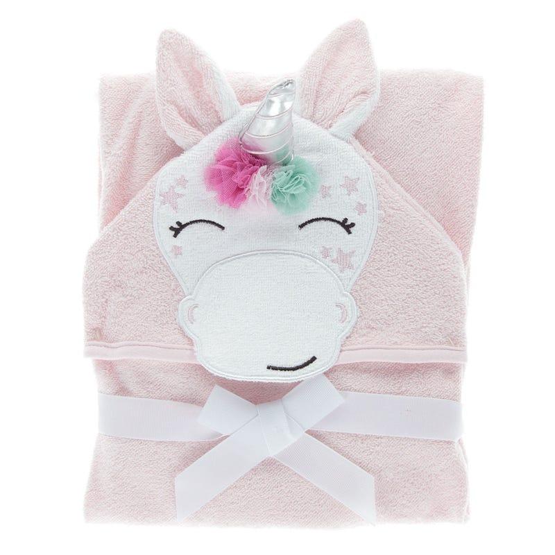 Hooded Towel Unicorn Pink