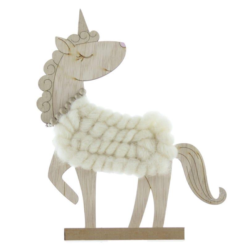 Unicorn with Wool -Ivory