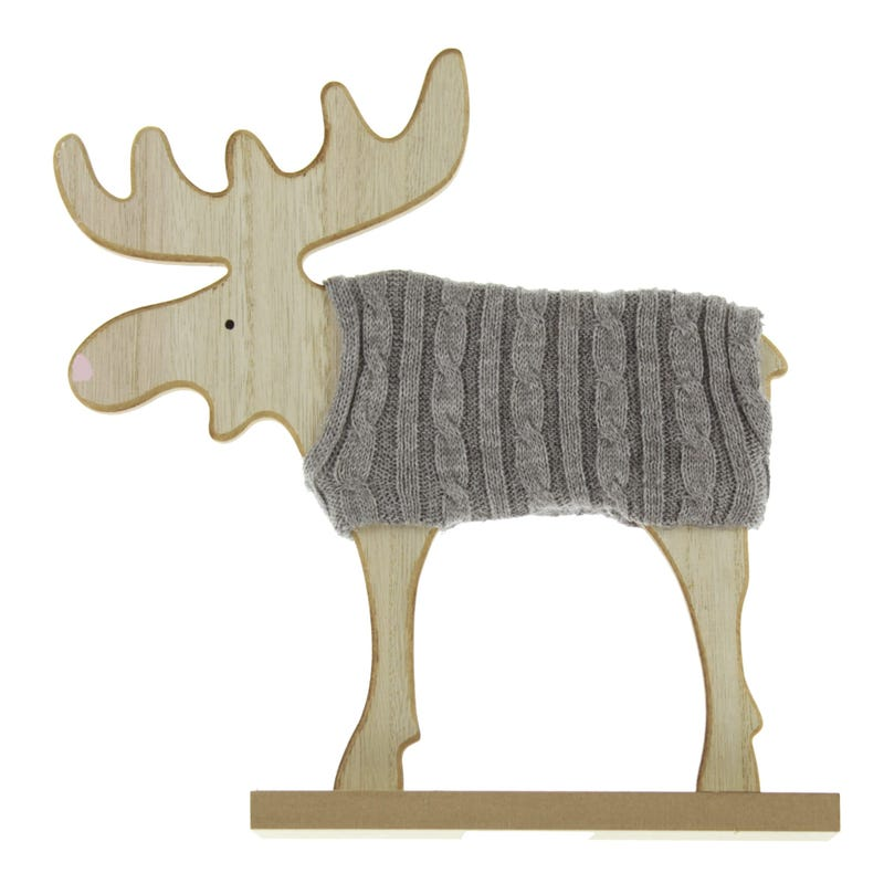 Moose with Wool - Gray