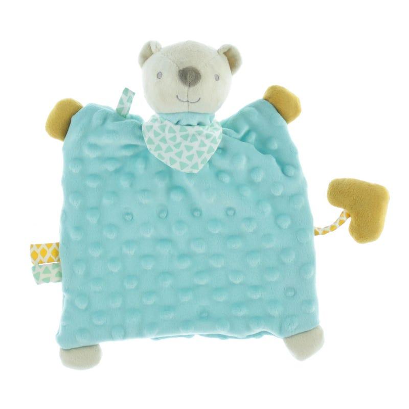 Activity Plush Blanket - Blue Bear