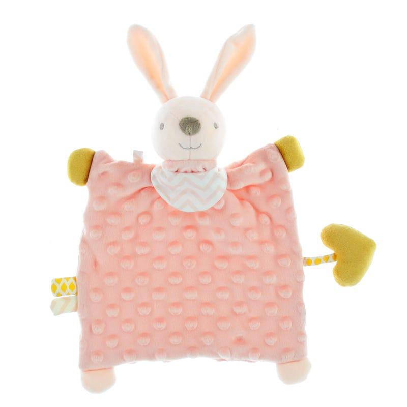 Activity Plush Blanket - Pink Rabbit