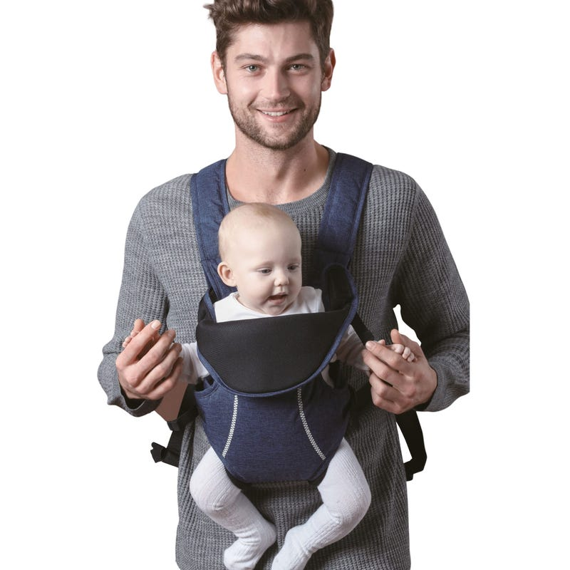 Ergonomic three carry positions Baby carrier- Grey