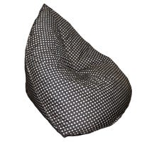 Sofa Bean Bag Black With White