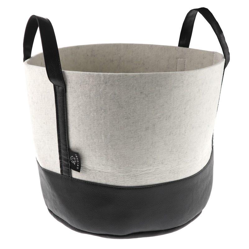 Laundry Basket - Black/White
