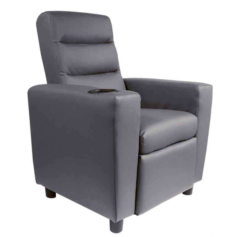 Kids Recliner Armchair - Dark Gray