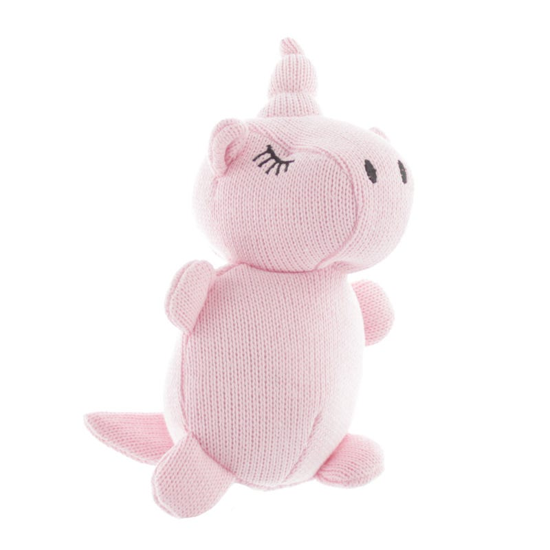 Rattle Unicorn Knitting - Pink